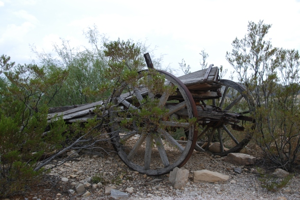 Old Wagon in Terlingua Texas