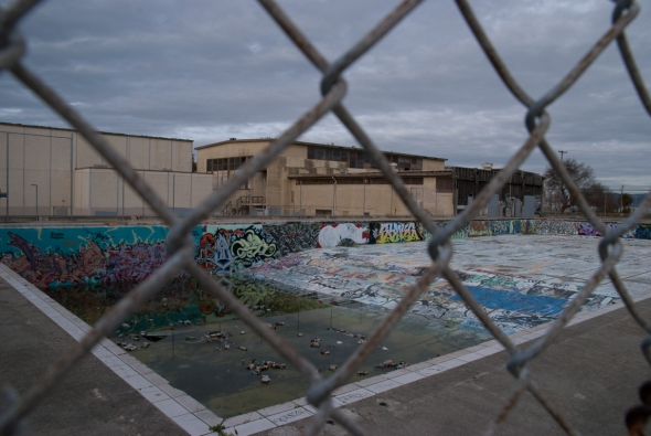 Abandoned Swimming Pool at Treasure Island